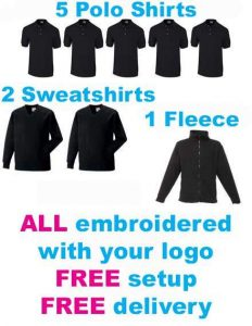 Printed Workwear Packages workwear & uniform | The Printed T-Shirt Shop
